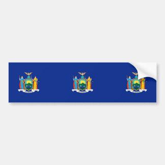 New York State Flag Design Car Bumper Sticker