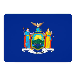 New York State Flag Design 5x7 Paper Invitation Card