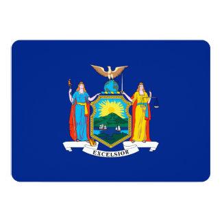 New York State Flag Design 13 Cm X 18 Cm Invitation Card