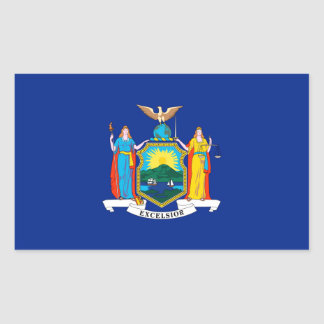 New York State Flag Design Rectangular Sticker