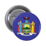 New York state flag Pinback Buttons
