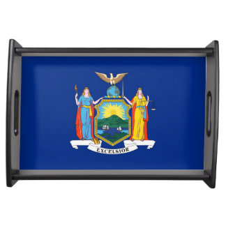 new york state flag united america republic symbol serving tray