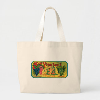New York State Grapes Ad vintage label Bag