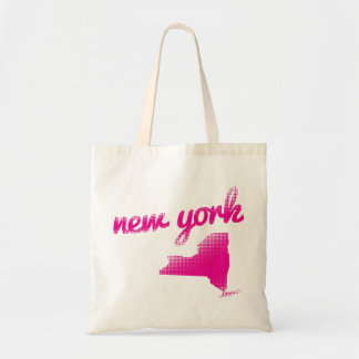 New York state in pink Tote Bag