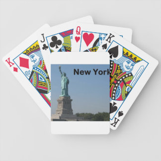 NEW YORK State of Liberty Bicycle Playing Cards