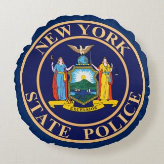 New York State Police Round Cushion
