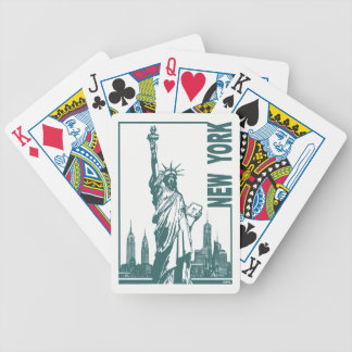 New York-Statue of Liberty Bicycle Playing Cards