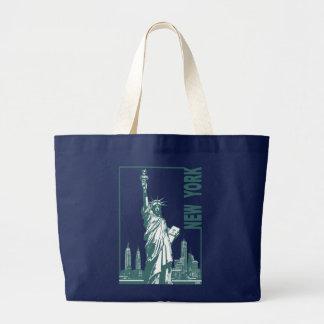 New York-Statue of Liberty Large Tote Bag