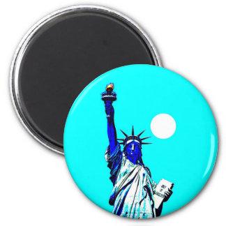New York Statue of Liberty Pop Art Magnet