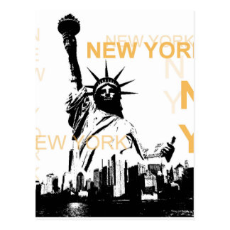New York Statue of Liberty Postcard