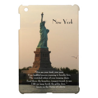 New York/Statue of Liberty Quote Cover For The iPad Mini