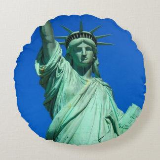 New-York, Statue of Liberty Round Cushion