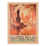 New York Statue of Liberty Shall Not Perish Bonds Print