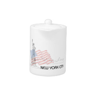 New York - Statue of Liberty USA Flag