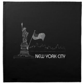 New York - Statue of Liberty USA Flag Cloth Napkin