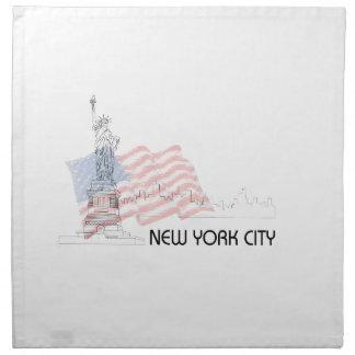 New York - Statue of Liberty USA Flag Napkin
