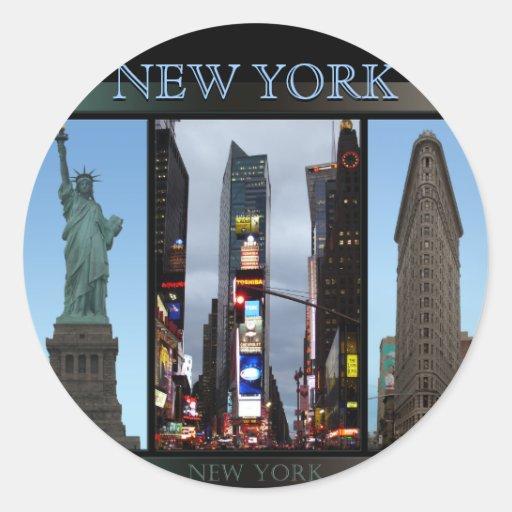 New york stickers cool new york souvenir stickers zazzle - Stickers porte new york ...