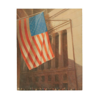 New York Stock Exchange 2010 Wood Print