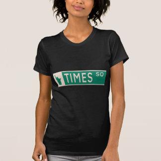 New York street sign - Times Square. Tshirts