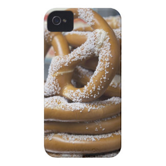 New York street vendor's huge pretzels for sale iPhone 4 Case-Mate Cases