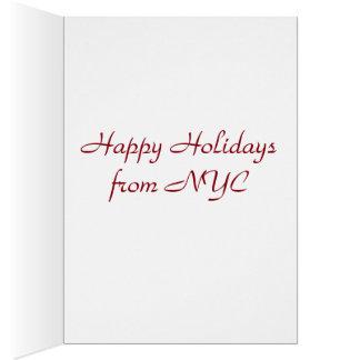 New York Streetlight Christmas Cards