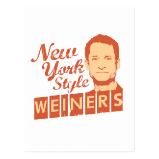 New York Style Weiners Postcard