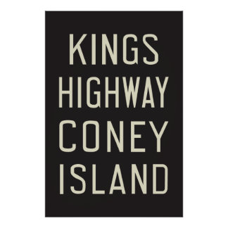 New York Subway - Kings Highway, Coney Island Poster