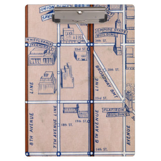 NEW YORK SUBWAY MAP, 1940 2 CLIPBOARD