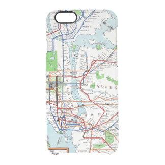 New York: Subway Map, 1940 Clear iPhone 6/6S Case