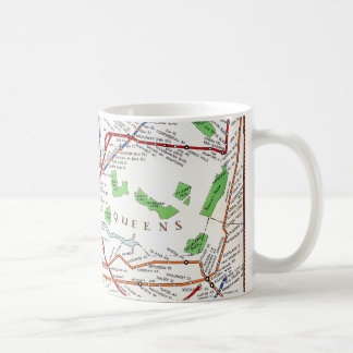 New York: Subway Map, 1940 Coffee Mug