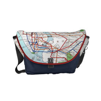 New York: Subway Map, 1940 Courier Bag