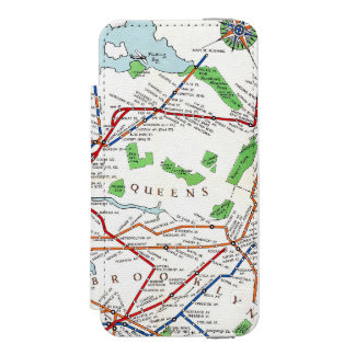 New York: Subway Map, 1940 Incipio Watson™ iPhone 5 Wallet Case