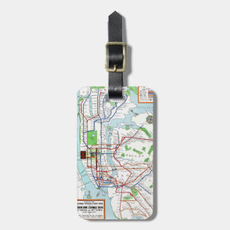 New York: Subway Map, 1940 Luggage Tag