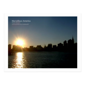 New York Sunset Postcard