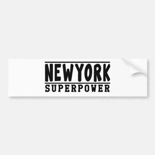 New York Superpower Designs Bumper Sticker
