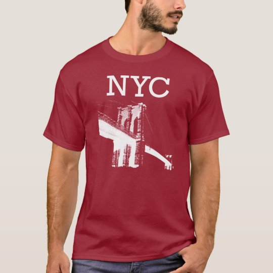 New York T-Shirt Deep Red