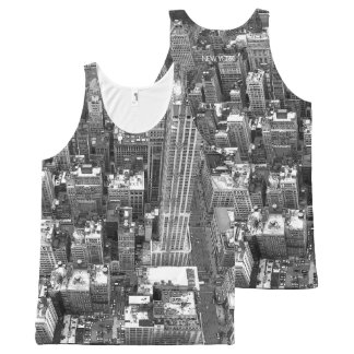New York Tank Top Empire State View NYC Shirts All-Over Print Tank Top