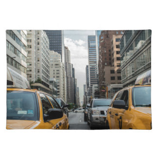 New York Taxi Cabs in the City Placemat