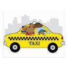New York Taxi Dog Postcard