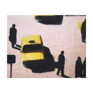 New York Taxis 1990 Canvas Print