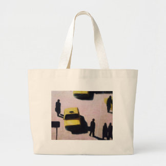 New York Taxis 1990 Large Tote Bag
