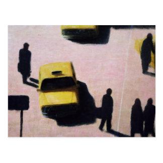 New York Taxis 1990 Postcard