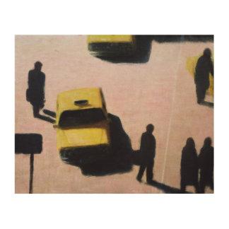 New York Taxis 1990 Wood Wall Decor