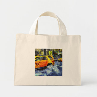 New York Taxis Art Mini Tote Bag