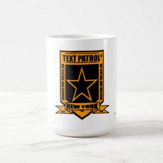 """New York """"Text Patrol"""" Mug2 by Clark Ulysse Pedtex Basic White Mug"""