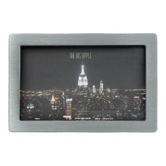 New York The Big Apple Manhattan at Night Gift Belt Buckles