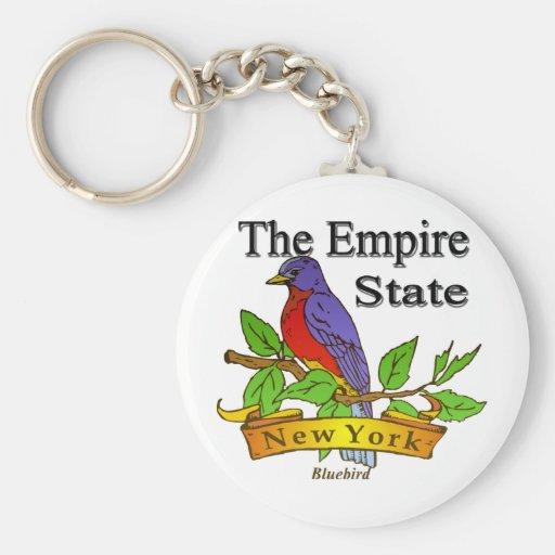 New York The Empire State Bird Key Chain