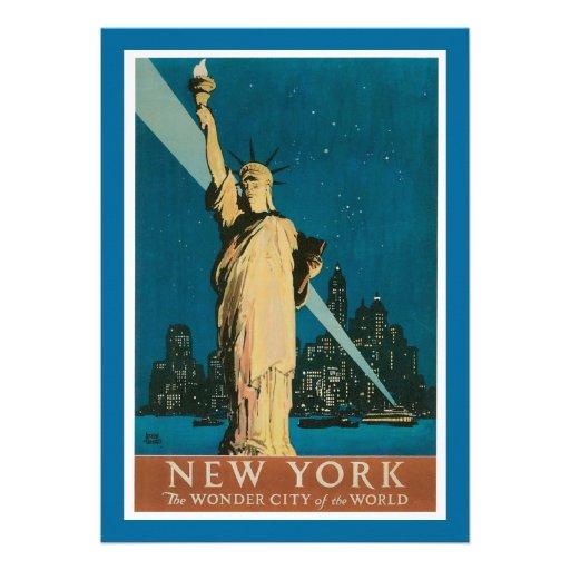New York:  The Wonder City of the World Invitations