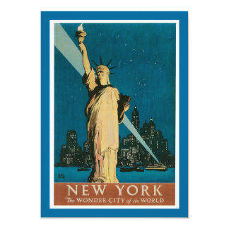 "New York:  The Wonder City of the World 5"" X 7"" Invitation Card"