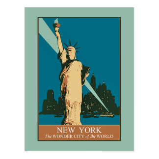 New York The Wonder City of the World Postcard